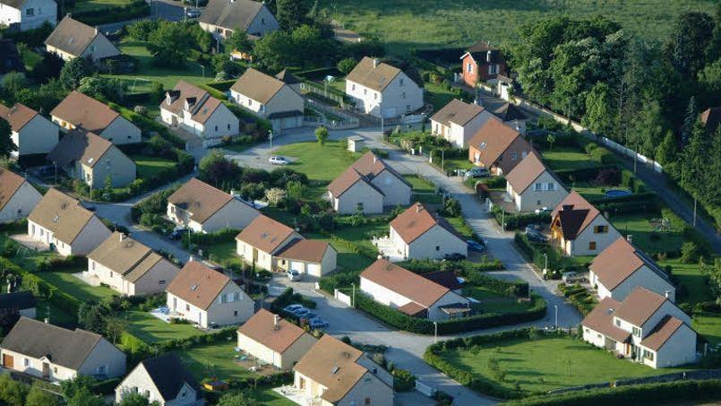 Vue aérienne d'un lotissement, en Bourgogne.