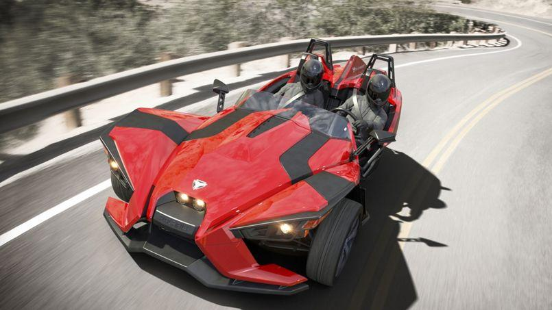 polaris slingshot un trois roues d coiffant. Black Bedroom Furniture Sets. Home Design Ideas