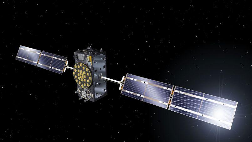 Vue d'artiste d'un des deux satellites Galileo lancé vendredi par la fusée Soyouz depuis la Guyane.