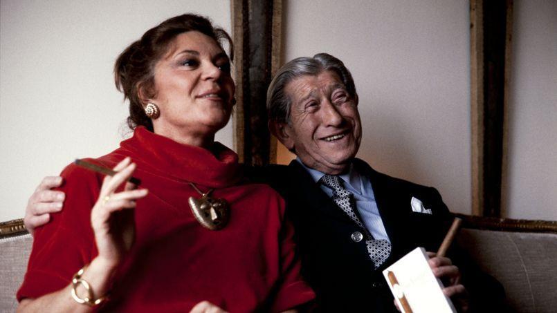 Avec Zino Davidoff à Pauillac en 1984.
