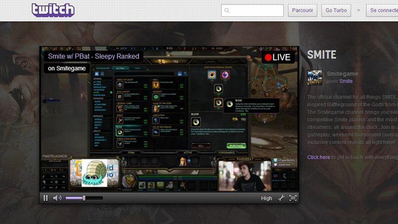 Twitch permet la diffusion en direct de parties de jeux vidéo.