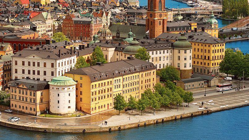 Vue du vieux Stockholm, en Suède.