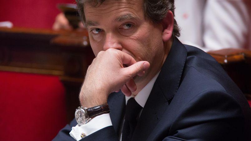 Arnaud Montebourg, sur les bancs de l'hémicycle de l'Assemblée nationale