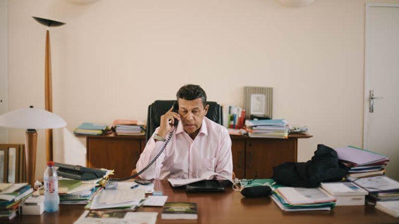 Le président de la FNSEA, Xavier Beulin, dans ses bureaux parisiens. Crédit photo: Le Figaro/Lucien Lung.