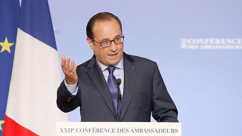 François Hollande, ce jeudi, à l'occasion de la conférence des ambassadeurs