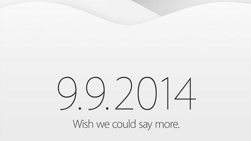 L'invitation d'Apple pour la présentation de l'iPhone 6.