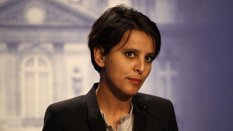 Najat Vallaud-Belkacem à l'Elysée, en mai 2012.