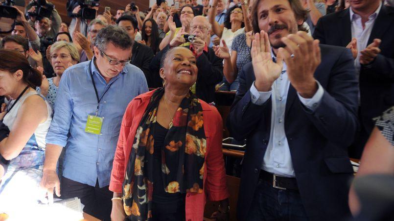 Christiane Taubira, samedi, lors de la réunion des frondeurs à La Rochelle.