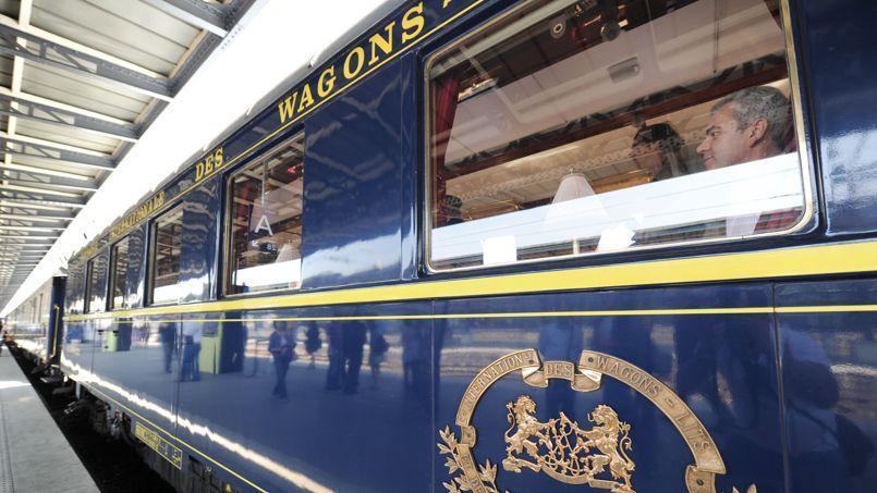 Un wagon de l'Orient-Express à la gare de l'Est, à Paris.