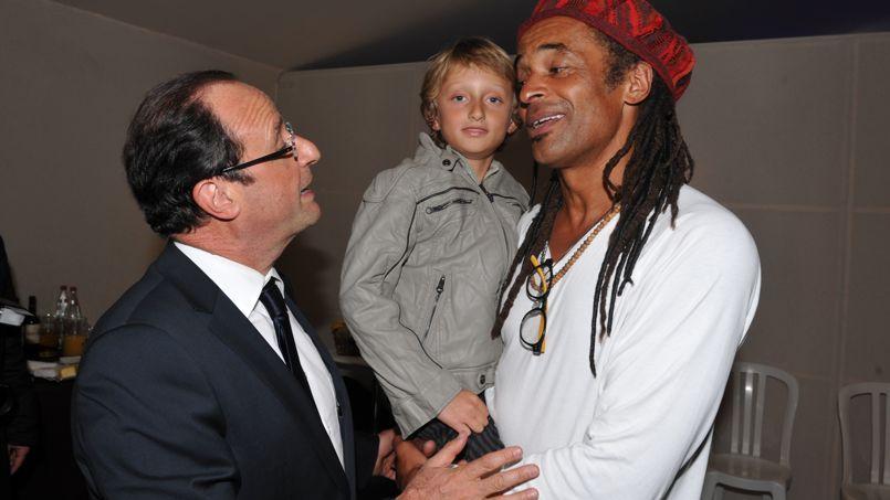 François Hollande et Yannick Noah pendant la campagne présidentielle de 2012.