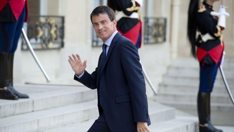 Manuel Valls à l'Elysée, le 1er septembre.