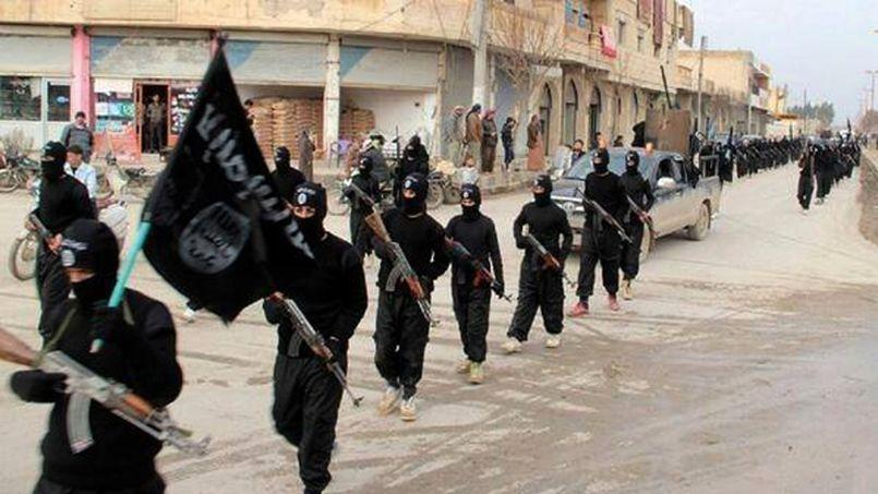 Cette image, publiée sur un site Internet militant le mardi 14 janvier 2014, montre des combattants du Front al-Nosra défilant à Raqqa en Syrie.