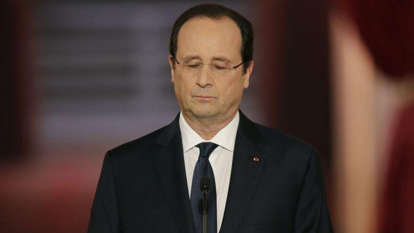 François Hollande, le 14 janvier 2014, lors de sa conférence de presse à l'Elysée.