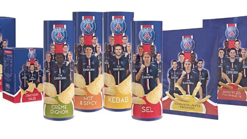 Tuiles Zlatan, chips Matuidi: le PSG lance ses gâteaux apéritifs