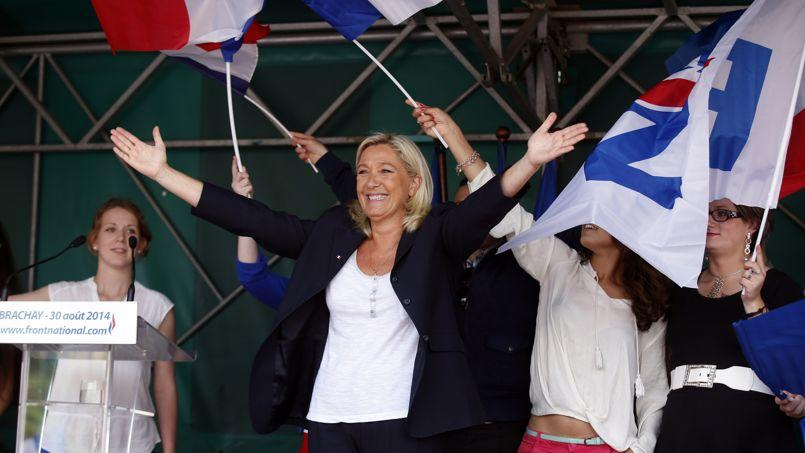 Marine Le Pen à Brachay le 30 août.