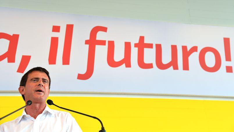 Manuel Valls, dimanche, à Bologne.