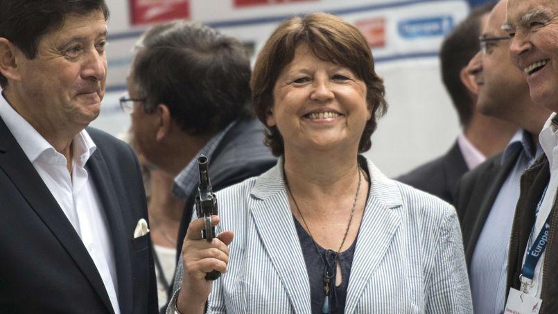 Martine Aubry lançant le semi-marathon de la Braderie de Lille, ce 6 septembre.