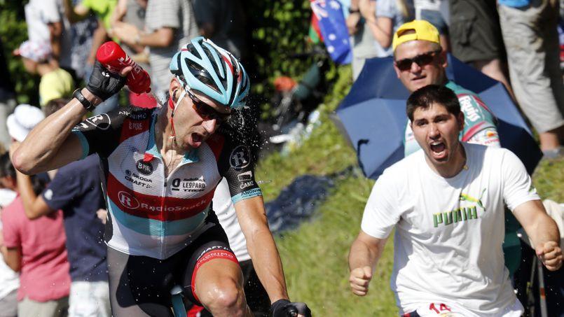 Le coureur Jens Voigt lors du Tour de France 2013.