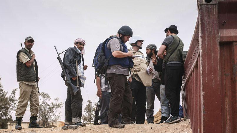 Steven Sotloff en Libye au mois de juin 2011.