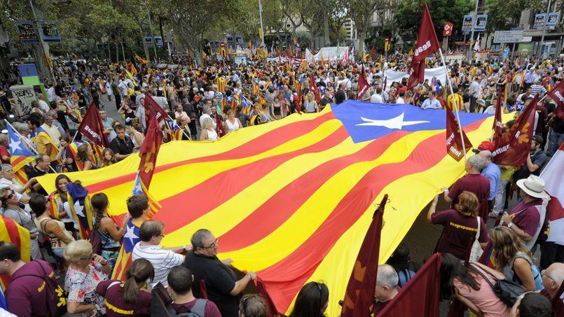 Diada du 11 septembre 2012, Barcelone. Crédits photo: LLUIS GENE / AFP