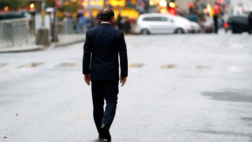 François Hollande près de la préfecture de Paris, le 25 août 2014.