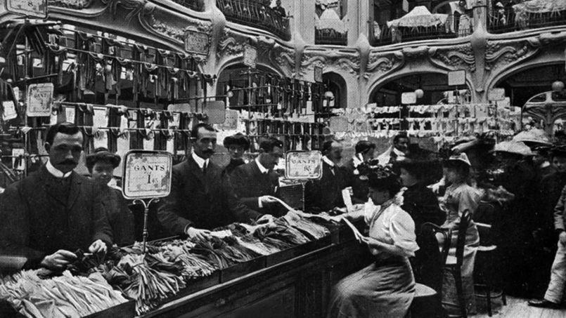 Les Galeries Lafayettes à Paris, 1910.
