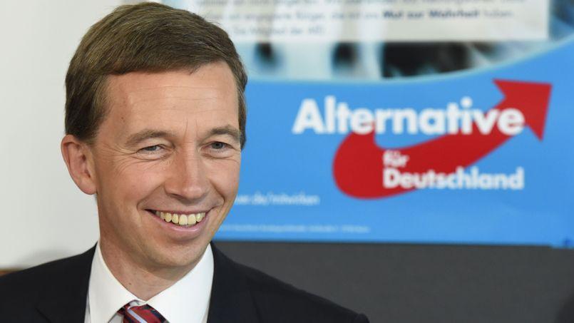 Bernd Lücke, leader de l'Alternative pour l'Allemagne, un mouvement classé comme national conservateur, lundi, à Berlin.
