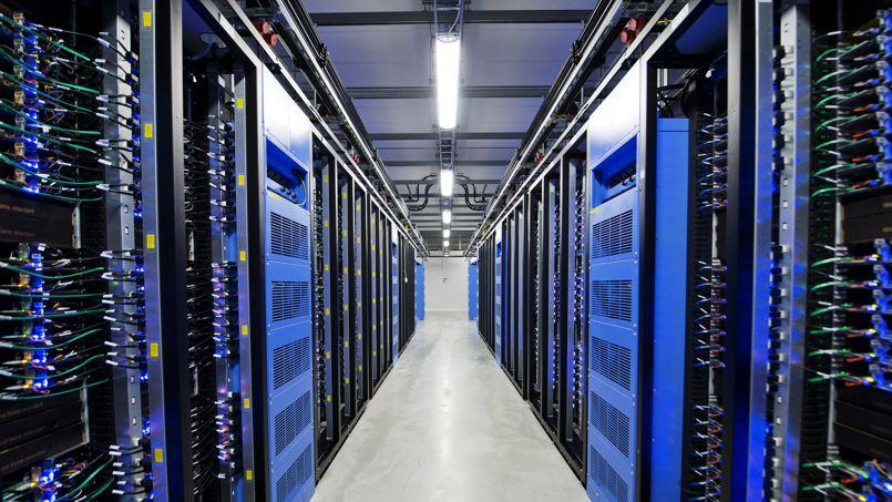 A l'intérieur d'un data center de Facebook, en Suisse.