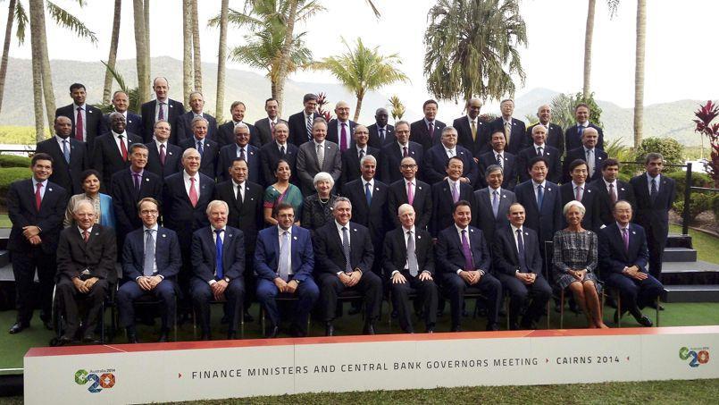 La photo de famille, samedi à Cairns, des ministres des Finances et des banquiers centraux.