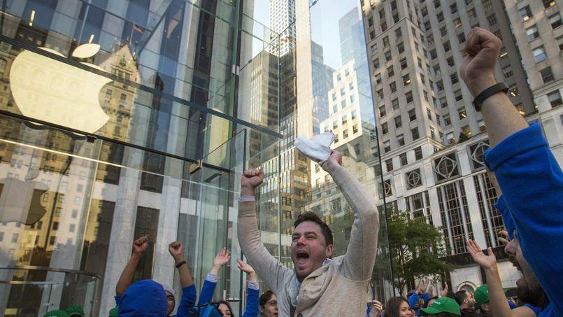 Devant l'Apple Store de la Cinquième avenue à New York pour le lancement de l'iPhone 6.