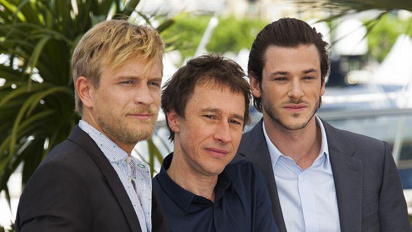 Jérémie Rénier, Bertrand Bonello et Gaspard Ulliel au festival de Cannes, en mai dernier.