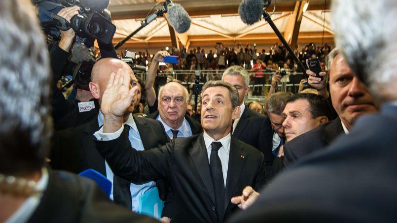 Nicolas Sarkozy, jeudi à Lambersart (Nord).