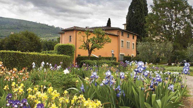 Villa La Massa, splendide demeure Renaissance surplombant le fleuve Arno, en amont de Florence.