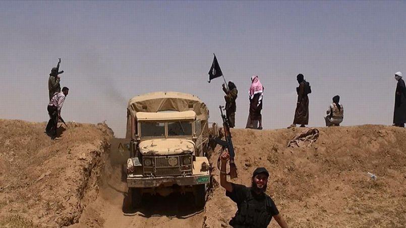 Capture d'écran d'une vidéo de propagande de l'État islamique.
