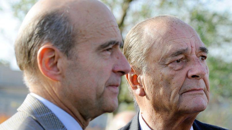 Alain Juppé et Jacques Chirac, en novembre 2009.