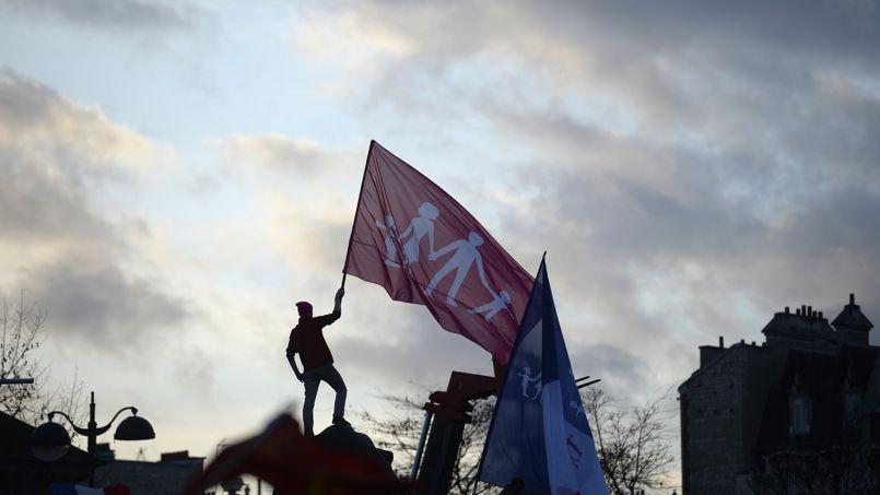 Manifestation de la Manif pour tous, à Paris, en février 2013.