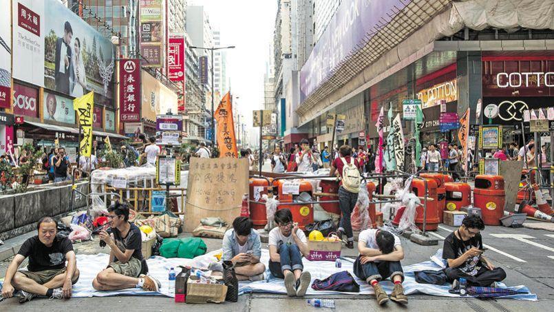 Les manifestants ont entamé, lundi, une deuxième semaine d'occupation du quartier d'Admiralty, au cœur de Hongkong.