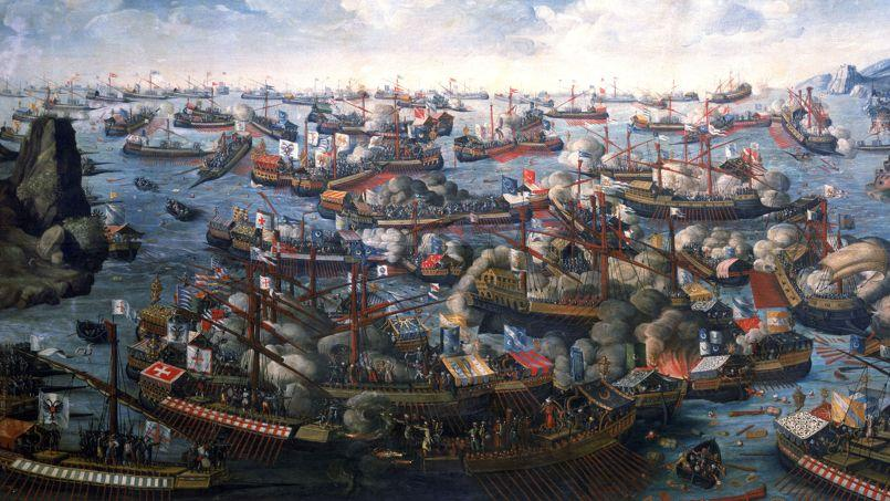 La bataille de Lépante, le 7 octobre 1571.
