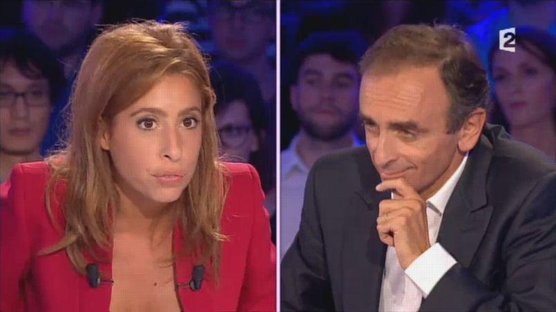 Léa Salamé et Eric Zemmour dans On n'est pas couché (capture d'écran)