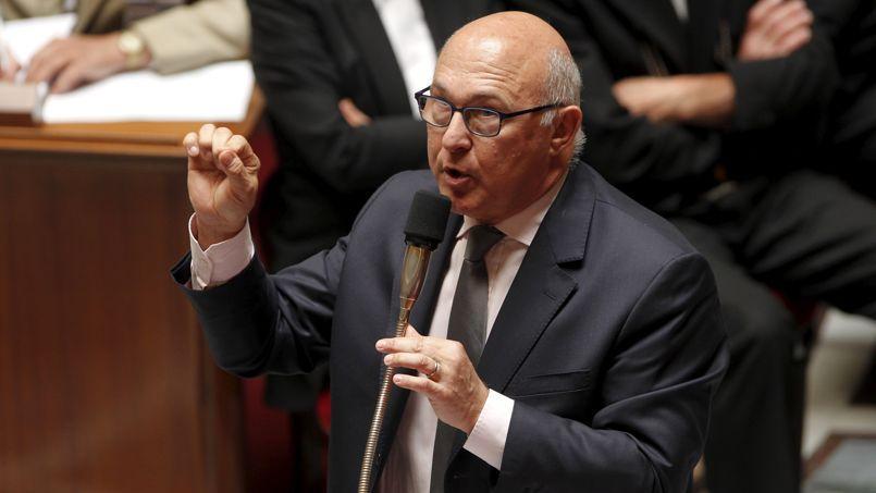 Michel Sapin, ministre des Finances, lors d'une séance de questions au gouvernement, à l'Assemblée nationale.