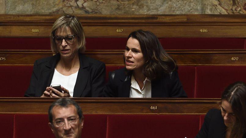 Aurélie Filippetti de retour à l'Assemblée nationale.