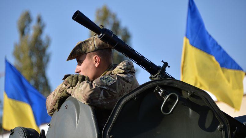 Un militaire ukrainien dans la région de Kiev le 7 octobre 2014.