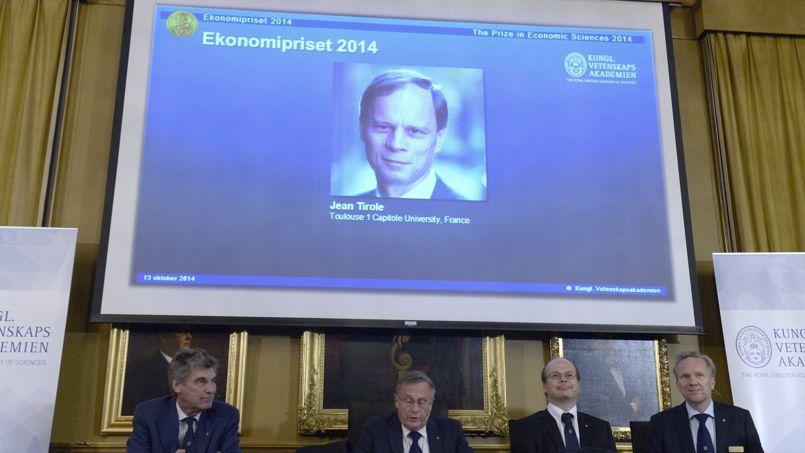 Jean Tirole, chercheur à l'université de Toulouse, a reçu lundi à Stockholm le prix Nobel d'économie.