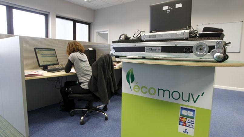Les locaux de la société privée Ecomouv', chargée de la gestion de l'écotaxe, installée sur une ancienne base militaire aérienne à Augny, dans la banlieue de Metz.
