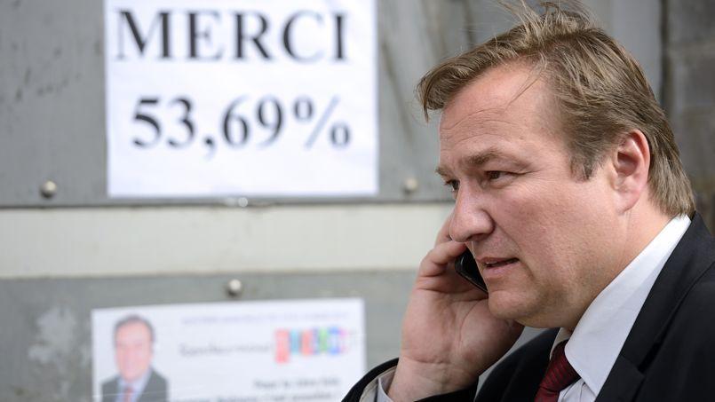 Le maire UDI de Bobigny, Stéphane de Paoli, le jour de son élection.