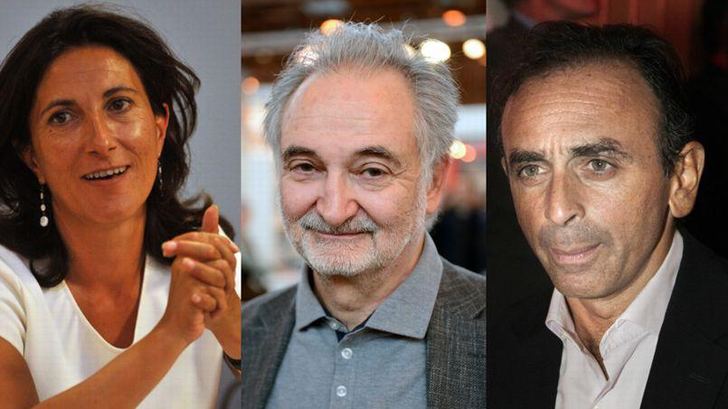 Sandrine Mazetier, Jacques Attali et Eric Zemmour.