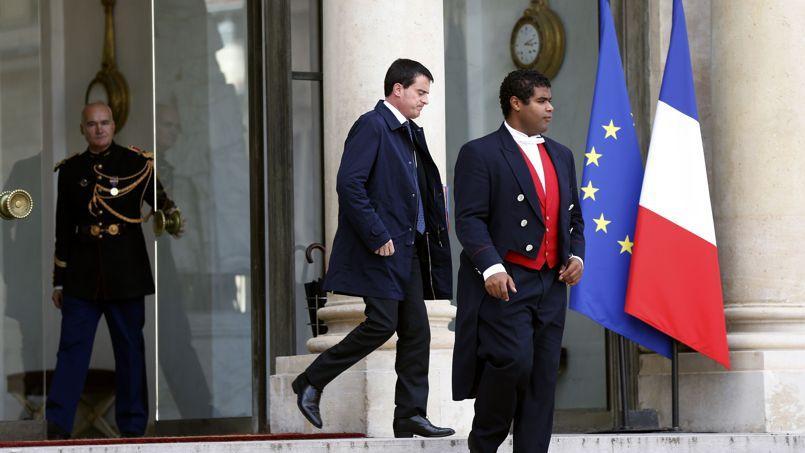 Manuel Valls lundi au Palais de l'Élysée.