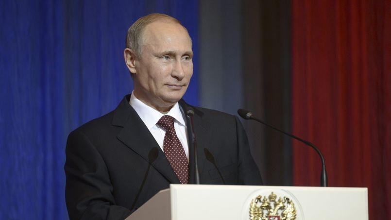 Vladimir Poutine, le 14 octobre, à Moscou.