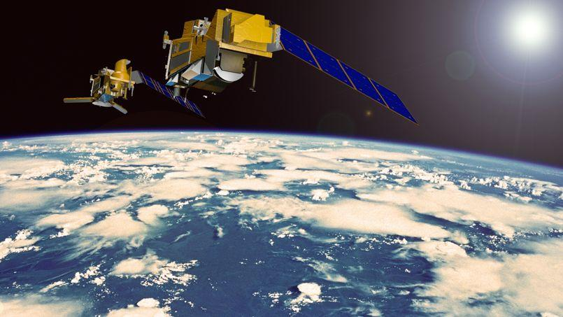 Vue d'artiste des futurs satellites météo qui fourniront dès 2021 des données plus précises dans le monde entier. Crédit: Airbus Defence & Space