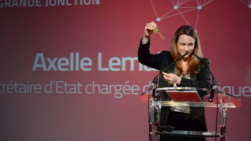 Axelle Lemaire, lors d'une conférence sur l'impression 3D.
